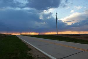 05-05-2018 -Uehling, NE - Orange Blue Sky by WxKnowltey