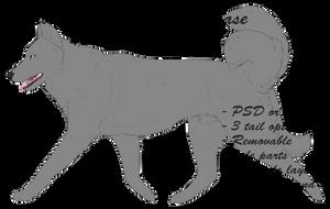 Siberian Husky PTU Lineart Base by iiPaw