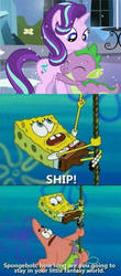 SpobgeBob Ships SpikeStarlight by SpikeTrap53