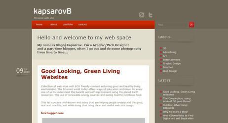 My personal web site by kapsarovb