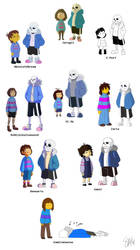 Undertale - Art style challenge by TC-96