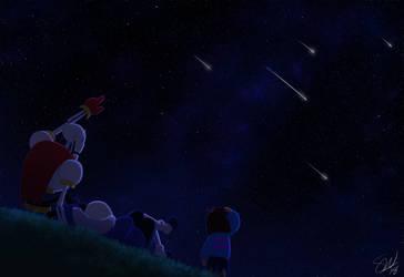 Undertale - Starry Night by TC-96
