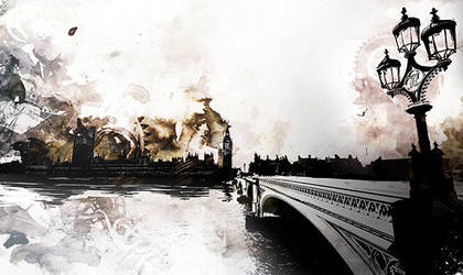 Bridge in London by InkTheory