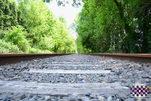 Old Train Tracks - Listen for the Rumble by GenniGenevieve