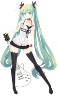 Miku Hatsune Render by Meikiyu