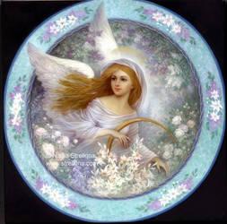 Angel in garden by Fantasy-fairy-angel