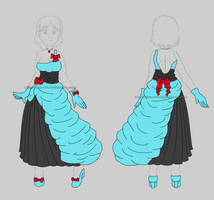 [Commission77] Fashion Design: Formal Dress by izka-197