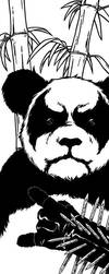 black metal panda by cadaverperception