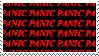 panic panic panic stamp by witchb0y