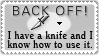 I have a knife by cfryant