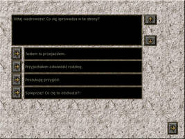 Old Game Project - Dialogue screen by scareddragon-pl