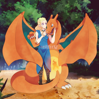 Daenerys Visiting Another Dragon by eMCee82