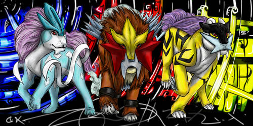 .The Johto Triad. by CheshireSmile