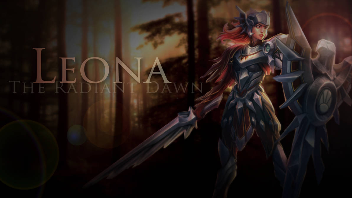Leona Wallpaper Black League Of Legends By Sonsofparagon On