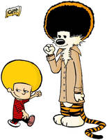 Afro Calvin and Hobbes by guga-51