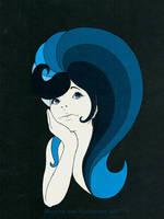 blue hair day by V-lock
