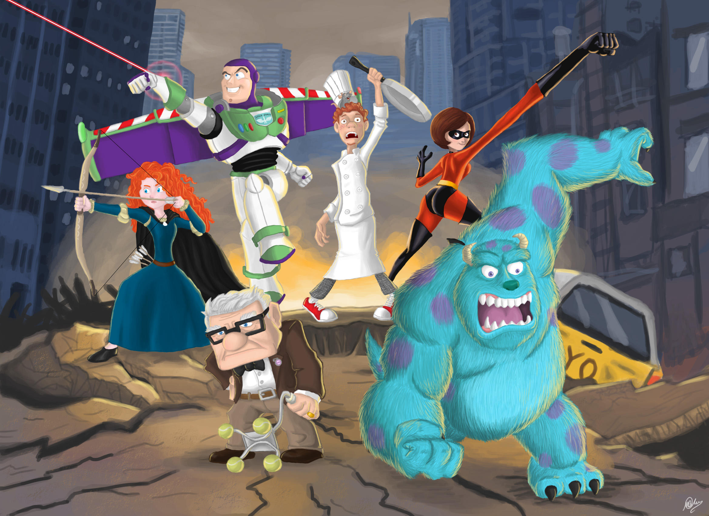 Pixar Avengers by MatheusBOliveira