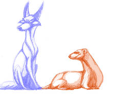 the fox and the weasel by foofoo1515