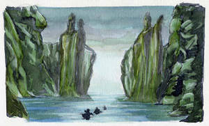 Behold the Argonath by crisurdiales