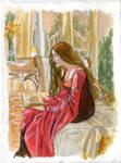 Arwen in red by crisurdiales