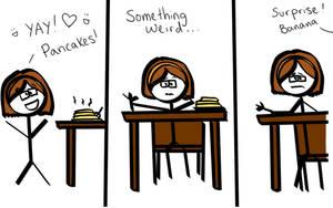 Banana Pancakes Comic by JenniBeeMine