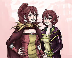 Anna and Morgan, my wife and child by SakakiTheTomiyoto