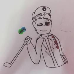 Zombie (Inktober) by KatelynCantDraw