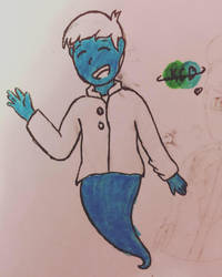 oh god not another smurf (Inktober) by KatelynCantDraw