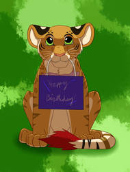 Menei Wishes you a Happy Birthday!_B-day gift by SolitaryGrayWolf