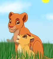 Kiara and Kion by SolitaryGrayWolf
