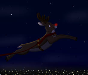 Rudoulph Lighting Up the Night by SolitaryGrayWolf