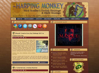 Web Design: Harping Monkey by MickBradley