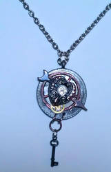 Clockpunk - Steampunk Heart and Key Pendant by MickBradley