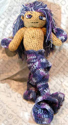 Male Merperson Amigurumi Doll by voxmortuum