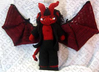Demon Amigurumi Doll by voxmortuum
