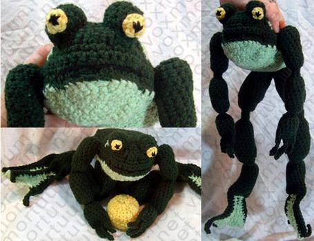 Frog Prince Amigurumi Doll by voxmortuum