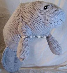 Manatee Crochet Doll by voxmortuum