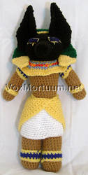 Anubis Amigurumi Doll by voxmortuum
