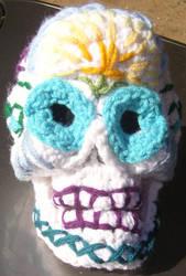 Sugar Skull - Dia De Los Muertos in crochet by voxmortuum