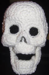 Skull Amigurumi Crocheted Plush by voxmortuum