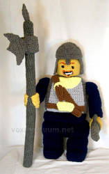 Lego Minifig Castle Guard Tribute Doll by voxmortuum