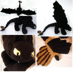 Toothless from How to Train Your Dragon by voxmortuum