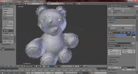 Stuffed Bear WIP by zackcdlvi