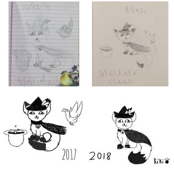Merlda Claws 2018 comparison by Kikithefox231
