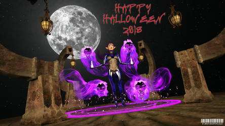Kellyann's Happy Halloween 2018 by Dizpincels