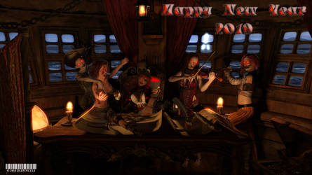 Happy 2019 from the Captain and Crew! by Dizpincels