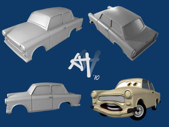 Trabant 'Cars'-Style WIP by DeathFromAbove86