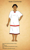 Postclassic Aztec Female Commoner by Kamazotz