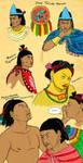 Aztec Characters Sketch by Kamazotz