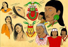 Zapotec Characters + More by Kamazotz